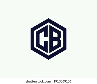 letter cb and bc logo design vector template