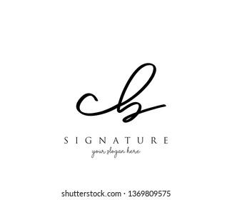 Letter CB Signature Logo - Vector