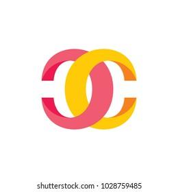 letter cc 3d design logo vector
