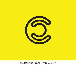 letter cc and c logo design vector template