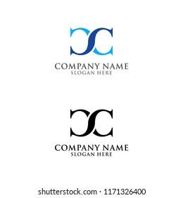 Letter CC logo design