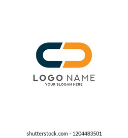 Letter CC Logo Design Vector Template