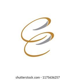 letter cc logo vetor