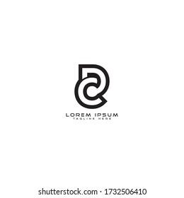 Letter CD DC logo icon design template elements