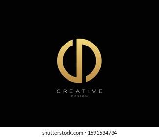 Letter CD Logo Design, Creative Minimal CD Monogram In Gold Color
