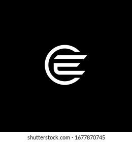 letter CE / initial CE logo design icon vector template