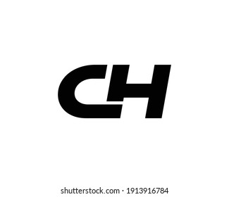 letter ch and hc logo design vector template
