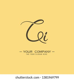 Letter Ci Logo. Initial Letter Design Vector Luxury Colors