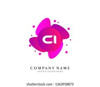 Letter CI logo vector concept design - Vector
