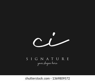 Letter CI Signature Logo - Vector
