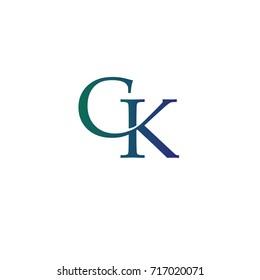 letter CK element logo design