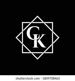 Letter CK luxury logo design vector