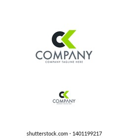 Letter CK and letter OK logo template design, icon, symbol