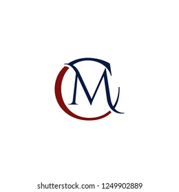 Letter CM Creative Abstract Business Modern Logo