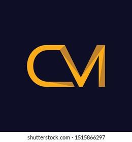 Letter CM Creative Modern Business Logo