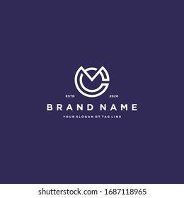 letter CM logo design vector template