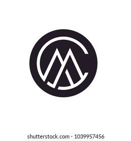 Letter CM MC Monogram Initials logo design