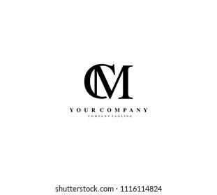 Letter CM Minimalist Modern Logo Design
