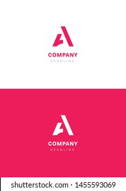 A letter company logo template.