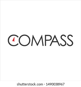 Letter Compass Vector Logo. Nautical Icon and Symbol. Eps 10.