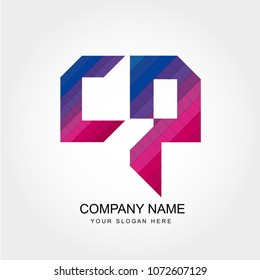 Letter CP Logo Template