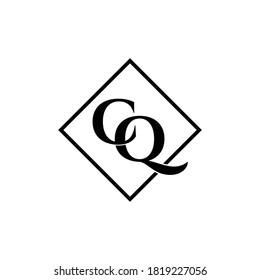 Letter CQ luxury logo design vector