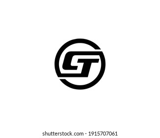 letter ct and tc logo design vector template
