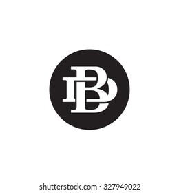 letter D and B monogram circle logo