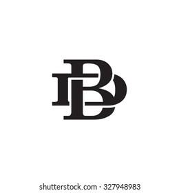 letter D and B monogram logo