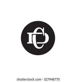 letter D and C monogram circle logo