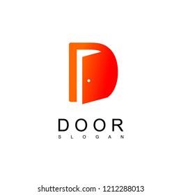 Letter D Door Logo