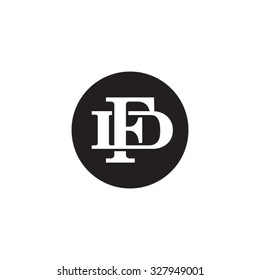 letter D and F monogram circle logo
