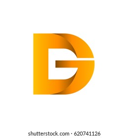 Letter D And Letter G Logo Template