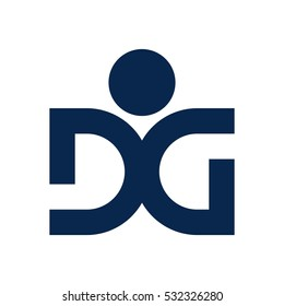 letter d and g logo vector