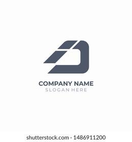 Letter D, ID or DI logo