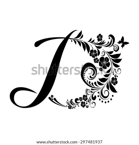 Letter D Isolated On White Romantic Stock Vector Royalty Free