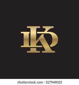 letter D and K monogram golden logo