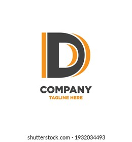 Letter D logo, company logo, dynamic, minimalism,  simple logo template, alphabet letters, for companies  and individuals, business promotion and advertising