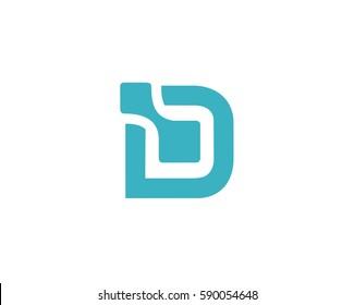 Letter D logo data design  ,logo icon design template.
