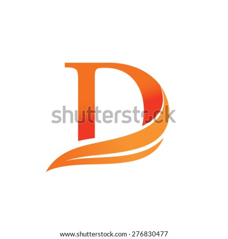 Letter D Logo Design Stock Vector Royalty Free 276830477