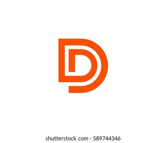 Letter D Logo Design Abstract Icon Template