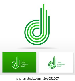 Letter D logo icon design - vector sign. Business card templates