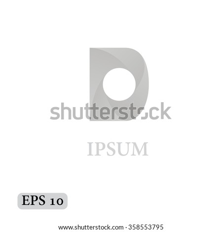 letter d logo icon design template stock vector royalty free