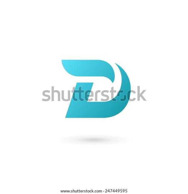 letter template icon  Letter D Logo Icon Design Template Stock-Vektorgrafik ...