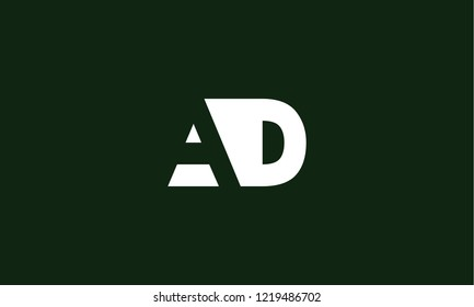 letter A D logo icon template design for branding. Creative, professional and customized initial typography for logo
