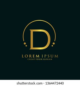 Letter D Logo. Initial Letter Design Vector Luxury Colors
