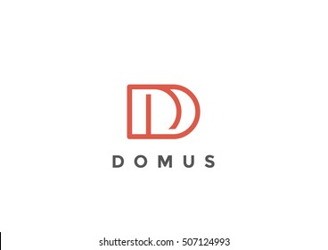 Letter D Logo Monogram design vector template Linear style. Corporate Business Luxury Fashion Logotype concept symbol.