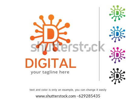 Letter D Logo Template Design Vector Stock Vector Royalty Free