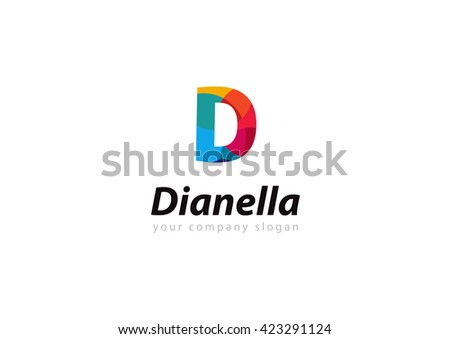 Letter D Logo Template Your Company Stock Vector Royalty Free