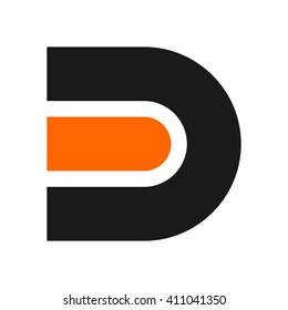 letter D logo vector.